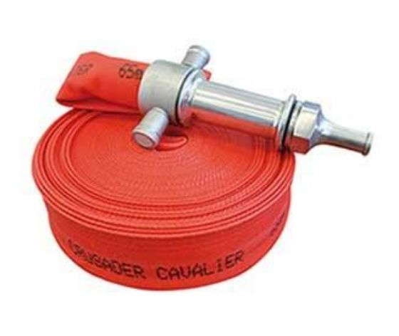 Cavalier m class fire hose with an exterior coating