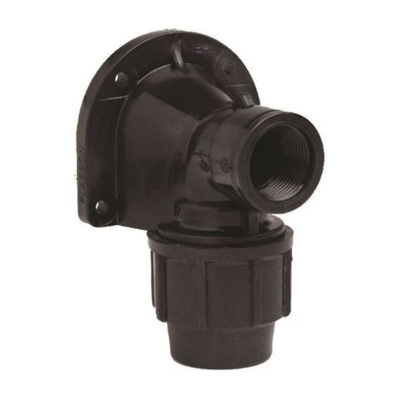 Plasson 7750 Metric Wallplate Elbow