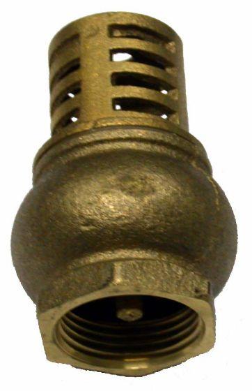 Brass-foot-valve